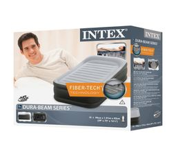 Matelas gonflable 1 place INTEX DELUXE NEW FIBER TECH