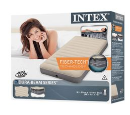 Matelas gonflable 1 place INTEX DOWNY FIBER TECH