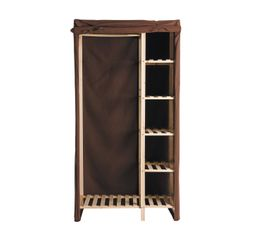 Portants & Penderies - Housse armoire ALIX Chocolat