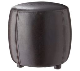 Pouf Diam. 31 - H. 32 cm. SEATTLE Marron