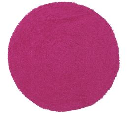 tapis rond d60 cm smartise fuchsia tapis but. Black Bedroom Furniture Sets. Home Design Ideas