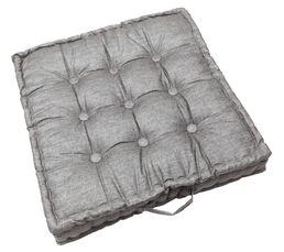 coussin de sol 65 x 65 cm style gris - coussins but