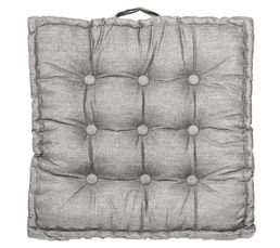 Coussins - Coussin de sol 65 x 65 cm STYLE Gris