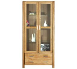 vitrine 2 portes chicago chene naturel vitrines but. Black Bedroom Furniture Sets. Home Design Ideas