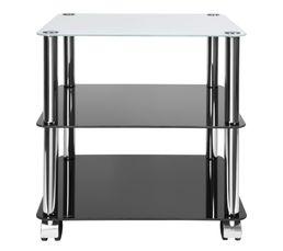 Table carrée H. 46 cm RONDO Noir / sable