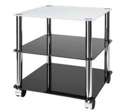 Petits Meubles - Table carrée H. 46 cm RONDO Noir / sable