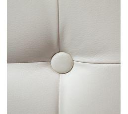 Pouf 35 x 35 x 35 cm CAPITONNE Blanc
