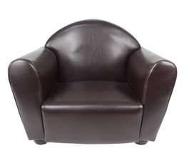 fauteuil enfant 52x40 cm club marron poufs poires but. Black Bedroom Furniture Sets. Home Design Ideas