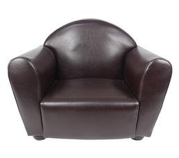 Fauteuil enfant 52x40 cm club marron petits meubles but - Fauteuil club enfant marron ...