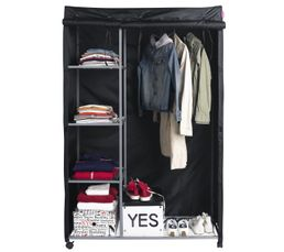 Housse armoire penderie astus 2 noir portants for Housse pour armoire tissu