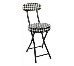 CINDY Chaise pliante Noir/Blanc