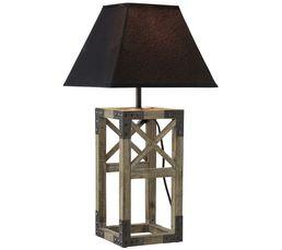 Lampes à Poser - Lampe à poser FACTORY Marron