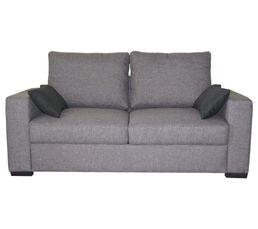 canap 2 places 1 2 fixe coloris gris noir tissu en polyester magasins but. Black Bedroom Furniture Sets. Home Design Ideas