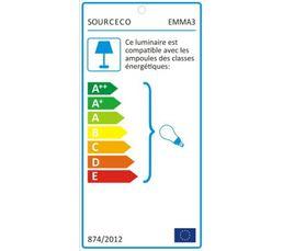 Lampe de chevet EMMA 3 Prune