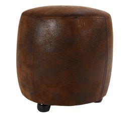 pouf vieilli 31cm cm tonneau marron poufs poires but. Black Bedroom Furniture Sets. Home Design Ideas