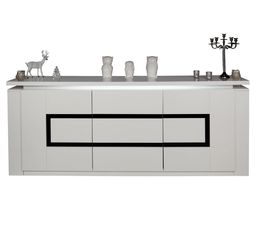 Buffet 2 portes/3 tiroirs RIVA Blanc/Noir