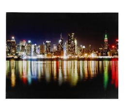 Toile 85x113 led nyc toiles but - Tableau led new york ...