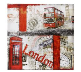 Toiles - Toile 50X50 BRITISH BUS