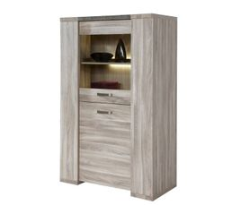 colonne vitrine stone kv1 chene gris buffets but. Black Bedroom Furniture Sets. Home Design Ideas