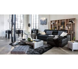 Tapis - Tapis 160x230 cm MOON noir/gris