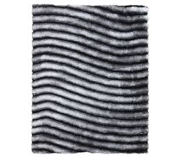 Tapis 160x230 Cm Nevada Gris Blanc Tapis But