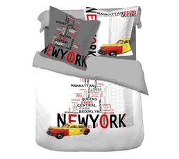 Linge De Lit - HC 260x240 + 2 TO 65x65 cm NEW YORK imprimé