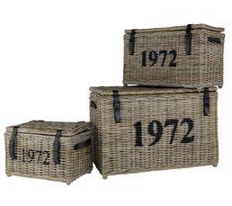 But - Set de 3 malles 1972 gris