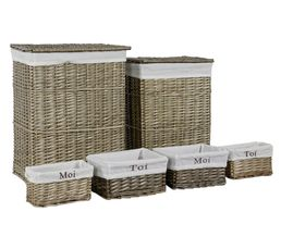 Set de 6 paniers FANTINE Naturel