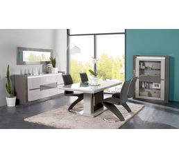 Buffet 4 portes rimini taupe gris buffets but for Mobilier sejour complet