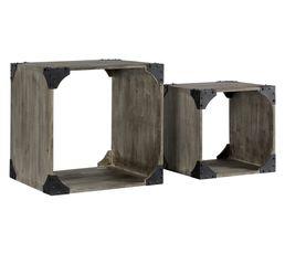 Set de 2 cubes ATELIER Gris