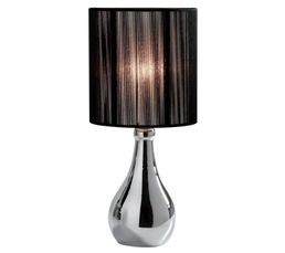 Lampes à Poser - Lampe à poser CARLITA Chrome-noir