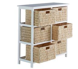 Rangement 6 tiroirs NATURA 2 Blanc