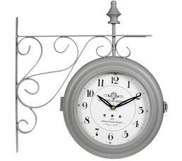 horloge potence gris horloges but. Black Bedroom Furniture Sets. Home Design Ideas