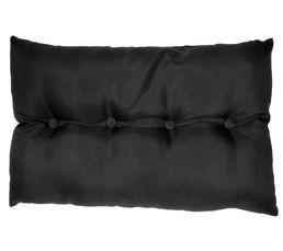 Coussin 40x60 cm CAPITON noir