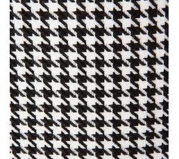 Pouf L. 35 - l. 35 - H. 35 cm PIED DE POULE noir/blanc