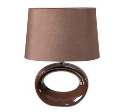 Lampe de chevet HOLY Marron