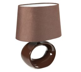 Lampe de chevet HOLY Marron