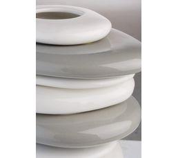 Vase LISSEA Blanc/Gris