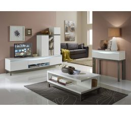 Tables Basses - Table basse ALMERA Blanc/Gris