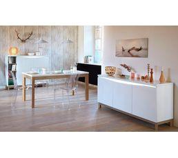 Buffets - Buffet haut 2 portes ALMERA Blanc/Chêne