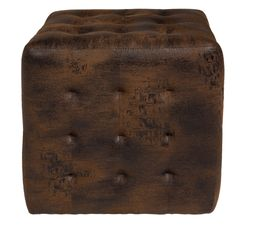 Pouf L. 40 - l. 40 - H. 40 cm COTTAGE marron