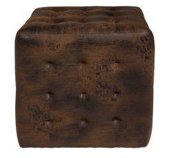 Poufs & Poires - Pouf L. 40 - l. 40 - H. 40 cm COTTAGE marron