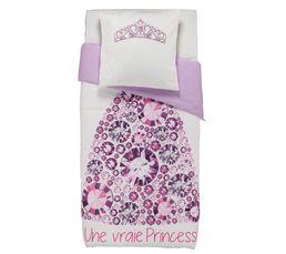 housse de couette enfant 140x200 cm 1 taie d oreiller princesse linge de lit but