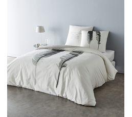 housse de couette 260x240cm 2 taies d 39 oreiller plume. Black Bedroom Furniture Sets. Home Design Ideas