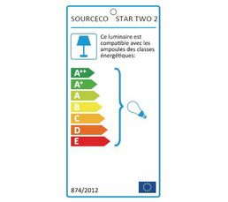 Lampadaire STAR TWO 2 Gris