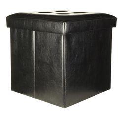 Poufs & Poires - Pouf L. 38 - l. 38 - H. 38 cm POUF PLIABLE Noir