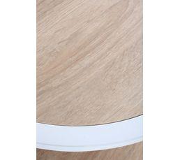 Table 3 plateaux en bois RONDO Blanc