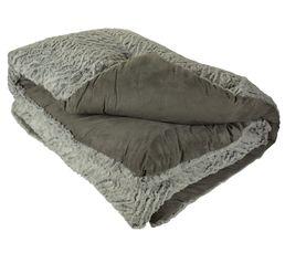 Plaids - Edredon 130x160 cm UGO gris