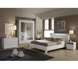 lit 160x200 cm alaska blanc lits but. Black Bedroom Furniture Sets. Home Design Ideas