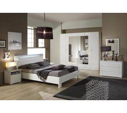 Armoires - Armoire 6 portes ALASKA blanc